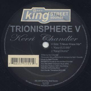 Kerri Chandler / Trionisphere V back