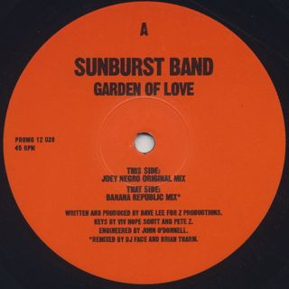 Sunburst Band / Garden Of Love front