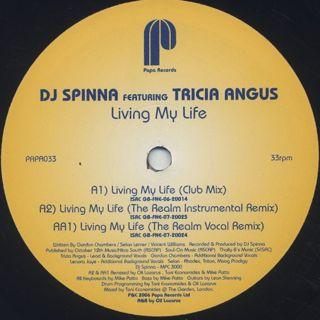 DJ Spinna / Living My Life label