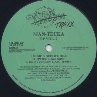Man-Tecka Featuring JD III / EP Vol. 2 label