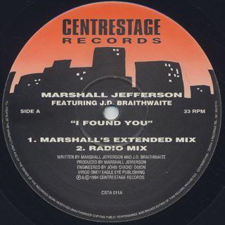 Marshall Jefferson / I Found You back