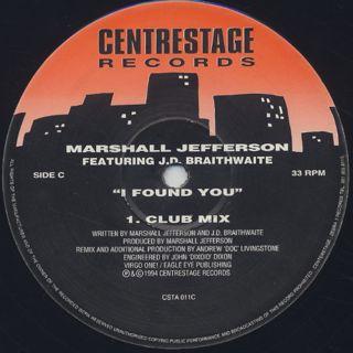 Marshall Jefferson / I Found You label