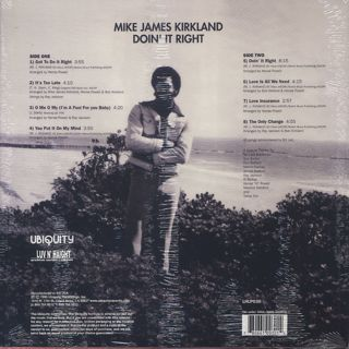 Mike James Kirkland / Doin' It Right back