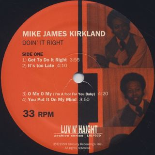 Mike James Kirkland / Doin' It Right label