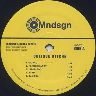 Mndsgn / ObliqueKitchn label