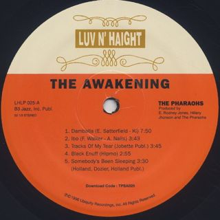 Pharaohs / The Awakening label