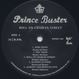 Prince Buster / Roll On Charles Street (2LP) label