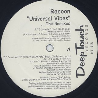 Racoon / Universal Vibes (The Remixes) label
