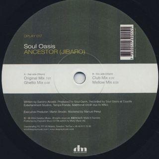 Soul Oasis / Ancestor (Jibaro) back