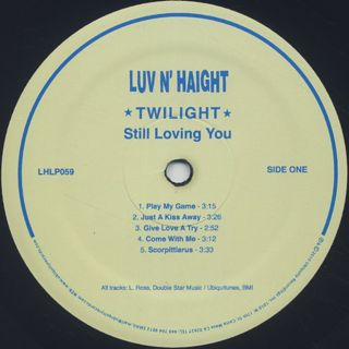 Twilight / Still Loving You label