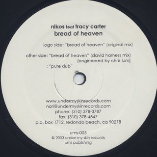 Nikos Feat Tracy Carter / Bread Of Heaven label