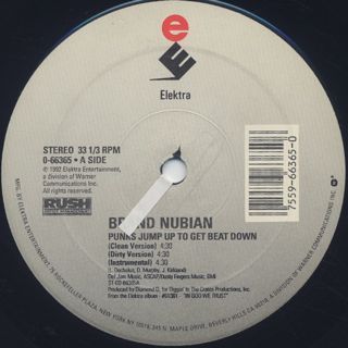 Brand Nubian / Punks Jump Up To Get Beat Down label