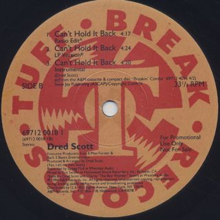 Dred Scott / Back In The Day label