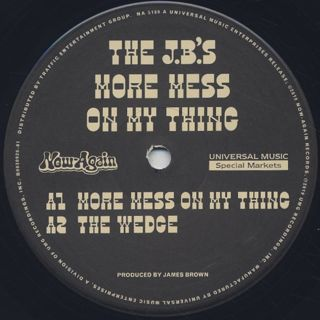 J.B.'s / More Mess On My Thing label