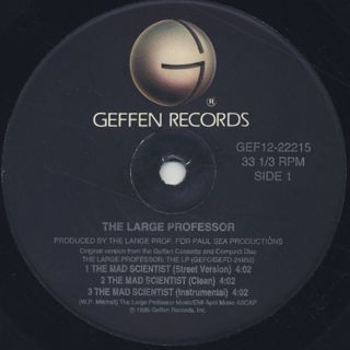 Large Professor / Mad Scientist label