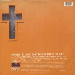 Maxwell / Ascension (Don't Ever Wonder) back