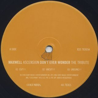 Maxwell / Ascension (Don't Ever Wonder) label