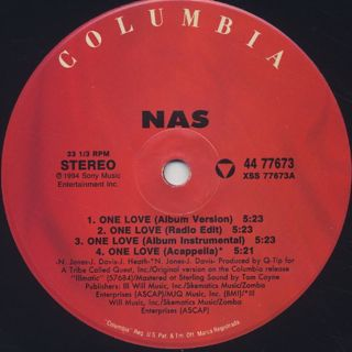Nas / One Love label