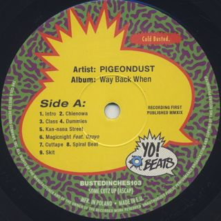 Pigeondust / Way Back When label