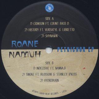 Roane Namuh / Petrichor EP label