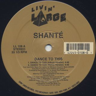 Shante / Dance To This label