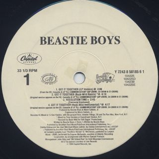 Beastie Boys / Get It Together label