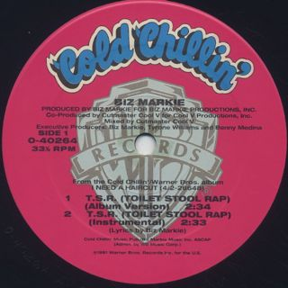 Biz Markie / T.S.R. (Toilet Stool Rap) label