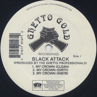 Black Attack / My Crown c/w Correct Technique back