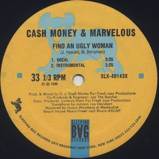 Cash Money And Marvelous / Find An Ugly Woman label