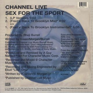 Channel Live / Sex For The Sport back