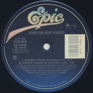 Comptons Most Wanted / Straight Checkn 'Em label