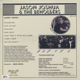 Jason Joshua & The Beholders / Alegria Y Tristeza back