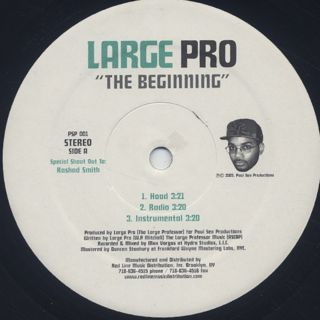 Large Pro / The Beginning label