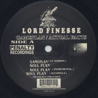 Lord Finesse / Game Plan label