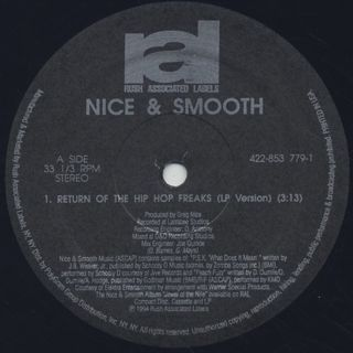 Nice & Smooth / Return Of The Hip Hop Freaks label