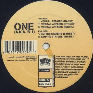 One A.K.A. B-1 / Verbal Affairs back