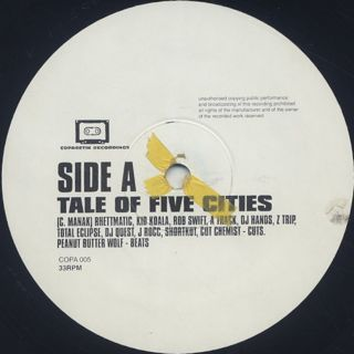 Peanut Butter Wolf / Tale of Five Cities label