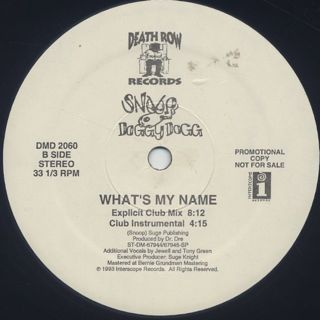 Snoop Doggy Dogg / What's My Name? back