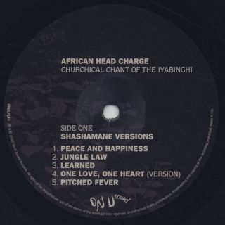 African Head Charge / Churchical Chant Of The Iyabinghi label