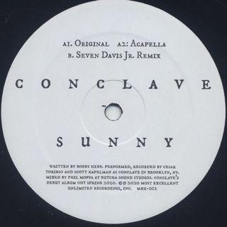 Conclave / Sunny c/w Seven Davis Jr Remix back