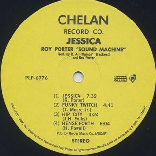 Roy Porter Sound Machine / Jessica label