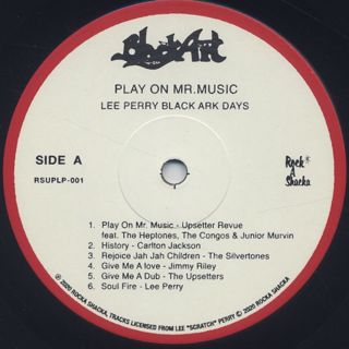 V.A. / Lee Perry Black Ark Days Play On Mr. Music (LP) label