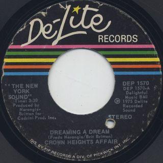 Crown Heights Affair / Dreaming A Dream (45) back