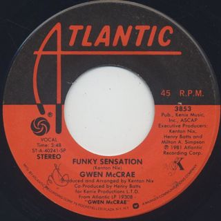 Gwen McCrae / Funky Sensation (45) ①