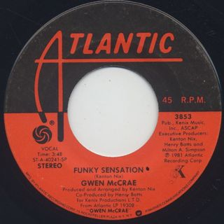 Gwen McCrae / Funky Sensation (45) ②