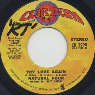 Natural Four / Can This Be Real c/w Try Love Again back