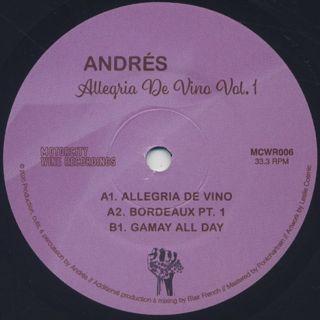 Andrés / Allegria de Vino Vol. 1