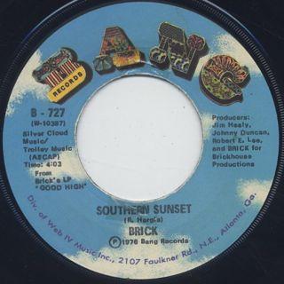Brick / Southern Sunset c/w Dazz back