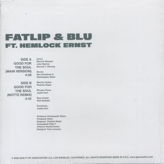 Fatlip & Blu Feat. Hemlock Ernst / Good For The Soul back