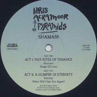 Idris Ackamoor & The Pyramids / Shaman! label
